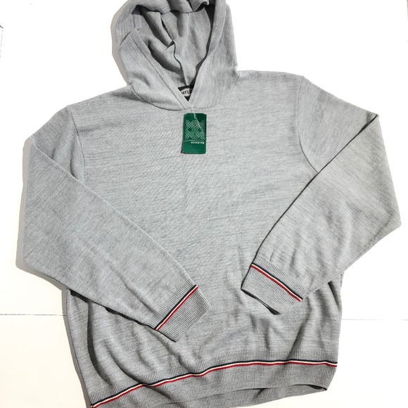 Atlas Other - Atlas Mens Hooded Sweater Sz XL Light Grey NWT